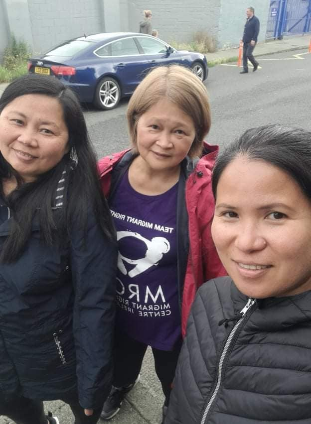 3 women on the last day of their fundraising challenge for MRCI.